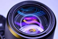 Photo of a telephoto lens for photography